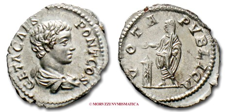 Roman coins: denarius of Geta offered by Arsantiqva