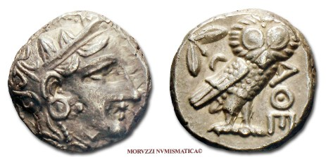 ancient greek coins: tetradrachm of athens offered by Arsantiqva