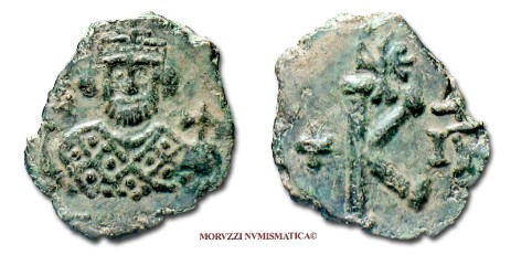 Byzantine coins: 1/2 follis of Leontius offered by Arsantiqva