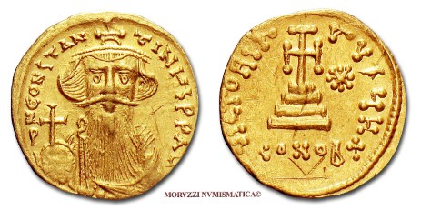 Byzantine coins: solidus of Constans II offered by Arsantiqva