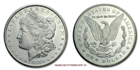 one morgan dollar 1878 cc carson city